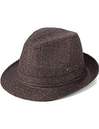 VODRWHAQ Hombre Gorras Sombrero Primavera Verano Hombres de Mediana Edad  Sombrero de Jazz Sombrero Casual Sombrero de Abuelo… 139bb3027a9