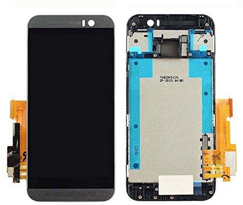 HTC One M9 Ersatz Display kompatibles LCD Touchscreen Digitizer Bildschirm Scheibe Glas Rahmen Frame Grau + Werkzeug (Htc Digitizer Ersatz Bildschirm)
