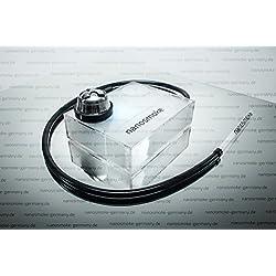 NanoSmoke - Cachimba de diseño de cubo LED con cazoleta de silicona, apta para exteriores, compacta y ligera, negro