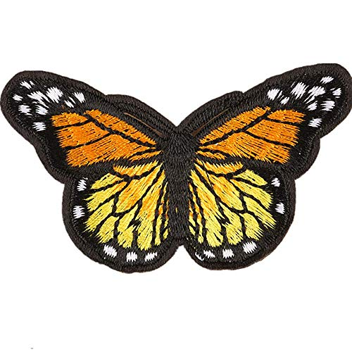 Obctk Schmetterling bügeln Patch nähen Stickerei Tuch Patch, DIY Geschenk Tuch Abzeichen Applique kostüm Rucksack Hut Jeans Abzeichen Patch, Erwachsene Kinder (Nähen Muster Für Kostüm)