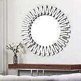 Venetian Design Flip Flop Round Wall Mirror Diameter 30 Inches
