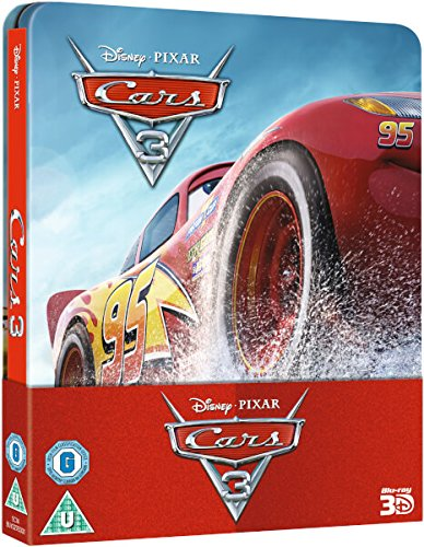 Cars-3-Steelbook-3D-Includes-2D-Version-UK-Exclusive-Limited-Edition-Steelbook-Blu-ray-Region-Free