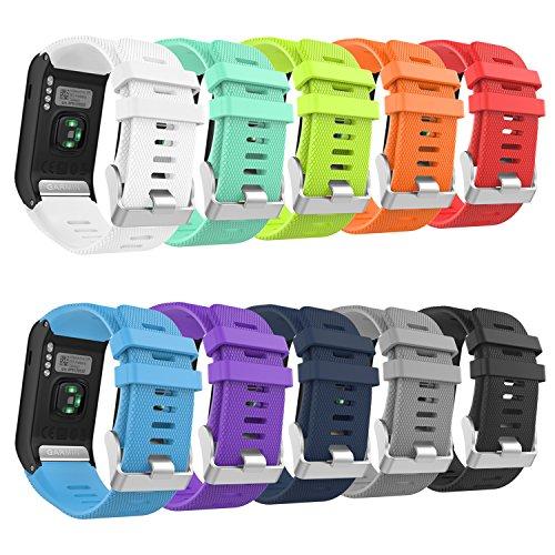 MoKo Correa de Reloj fpara Garmin Vivoactive HR, [10 Cargado] Banda de Reloj de Silicona Suave SÓLO para Garmin Vivoactive HR Reloj Inteligente, 10PCS (Multicolores)