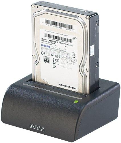 "Xystec Festplatten Dock: USB-Docking-Station für 2,5\""- & 3,5\""-SATA-Festplatten, inkl. Netzteil (Festplattendockingstation)"