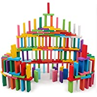 VGRASSP 12 Color Wooden Dominoes Set for Kids - Colorful Dominos Educational Toy for Kids (120 Piece)