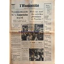 HUMANITE (L') [No 8954] du 30/05/1973 - MAIS OU SONT LES CRECHES PROMISES A PROVINS - PONIATOWSKI -UNE COLLABORATION SCANDALEUSE DU POUVOIR AVEC FRANCO PAR COLPIN -ISLANDE / POMPIDOU ET NIXON -RENCONTRE LE DUC THO - MARCHAIS -LE COSMOS A L'HUMA -LA VEUVE DE MOHAMED DIAB ACCUSE LE BRIGADIER MARQUET -REGLEMENT EN 5 POINT AU SUD-VIETNAM -CAMBODGE / HANOI REAFFIRME LA SOUVERAINETE NATIONALE DU PEUPLE KHMER -ELECTIONS CANTONALES / GASTON PLISSONNIER