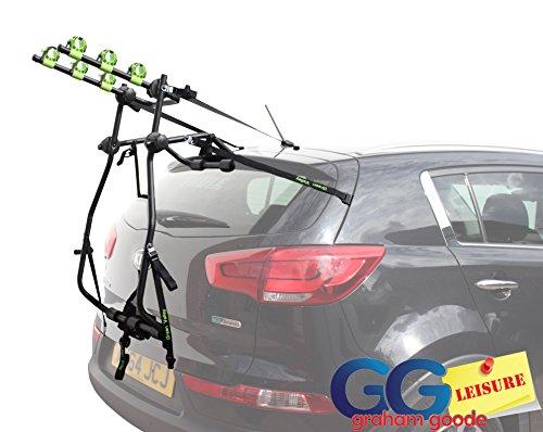 Porta-biciclette per 3 biciclette, da attaccare al portellone posteriore dell'auto
