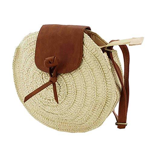 MISEMIYA - Borsa a Mano Donna Pochette e Clutch Borse a mano e a spalla mano borsa SR-YL827(25 * 28 * 4cm) - Beige