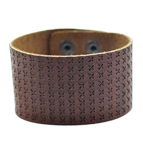 Jiayiqi Une Signalisation Spéciale Unisexe Croix Modèle Cuir Large Bracelet Personnalisé Bracelet No2