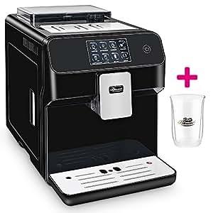 ☆ONE TOUCH☆ Kaffeevollautomat✔ 1 Thermoglas Gratis✔ CAFE BONITAS✔ Kingstar Black✔ Touchscreen✔ Timer✔ 19 Bar✔ Kaffeeautomat✔ Latte Macchiato✔ Kaffee✔ Espresso✔ Cappuccino✔ heißes Wasser✔ Milchschaum✔