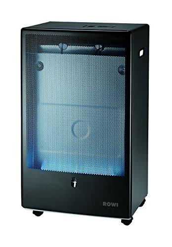 Rowi–Gaskessel Flamme Blau, Anthrazit, 4200Watt, Thermostat, Pro