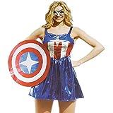 Aimerfeel damas capitán américa vengadores traje de las mujeres de vestir disfraces de superhéroes, tamaño 34-36