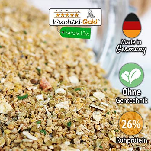 WachtelGold Wachtelküken Futter-Spezial Nature 5kg (2x2,5kg) - reich an Kräutern und Blaumohn