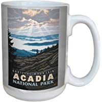 Tree-Free Greetings lm43259 Scenic Acadia National Park Cadillac Mountain by Paul A. Lanquist Ceramic Mug, 15-Ounce, Multicolored by Tree-Free Greetings