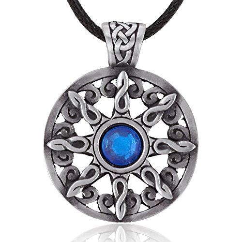 eb791b04e7 Joaillier Llords | Celtique, soleil entrelacé avec cristal bleu, Collier à  pendentif, bijou