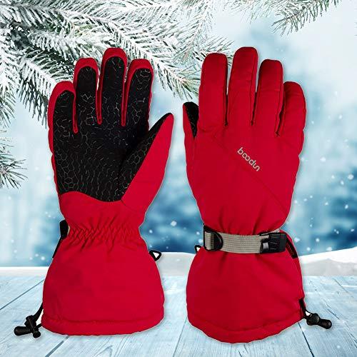 mAjglgE Herren Damen Outdoor Sport Anti-Rutsch Skifahren Winter Warm Vollhand Handschuhe -