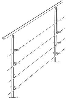 80cm, 2 Querstreben VINGO Edelstahl Handlauf Gel/änder f/ür Balkon Br/üstung Treppen mit//ohne Querstreben