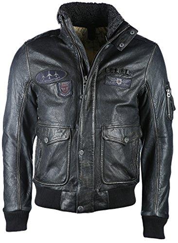 Gipsy Cruise 2 W17 NSLAVW Leder-Jacke schwarz L Leder Jacke Fellkragen Herren