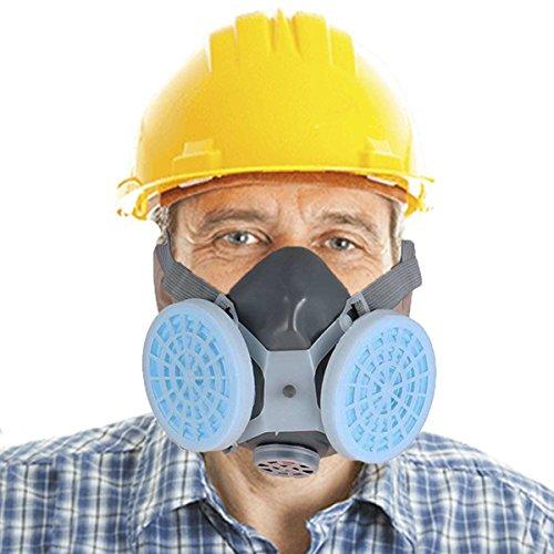 Essort Maschera Respiratoria Antipolvere, Maschera Antipolvere Lucidatura Vernice Spray Industriale per Decorare la Maschera Protettiva del Cemento, Blu