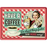 Nostalgic-Art 10253 Say it 50's - Have A Coffee, Blechpostkarte 10x14 cm