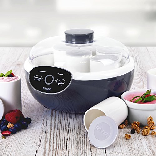 51oR3QQXCzL. SS500  - Duronic Yoghurt Maker YM2 | Yogurt Machine with 8 Ceramic Pots | Digital Display | Timer Function | 20W | Make Fresh Homemade Bio-Active Yoghurt in Your Own Kitchen