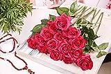 Butterme 5 Stück Real Touch Latex künstliche Rose Blumen-Hochzeits-Blumen-Blumensträuße Valentinstag Geburtstag Weihnachtsgeschenk
