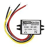 24v Convertir 12v 6A 60w DC Reduce Energía Módulo de Convertidor Reductor Voltios