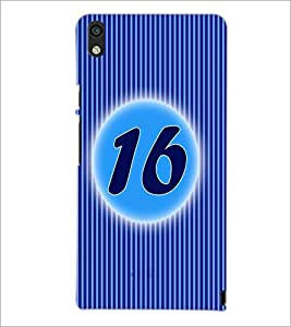 PrintDhaba Numerology Number 16 D-2572 Back Case Cover for HUAWEI ASCEND P6 (Multi-Coloured)