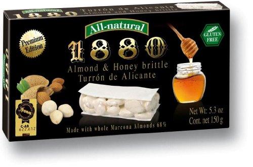 1880 Turron de Alicante Almond & Honey Brittle Bar, Duro - 150g