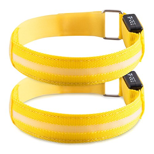 kwmobile Lot 2X Bracelet LED Lumineux - Brassard de...