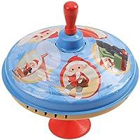 Bolz 52333 - Brummkreisel Sandmännchen, Ø 19 cm, Blech Schwungkreisel, Musikkreisel erzeugt mehrstimmige Töne, Spielzeugkreisel für Kinder ab 1,5 Jahre, Blechkreisel aus Metall Unser Sandmännchen