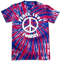 Símbolo de la paz, diseño de corazones y diseño de caballos' Tie Dye para ropa de niños T-shirts