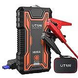 UTRAI Booster Batterie Voiture, 1600A 16000mAh Portable Jump Starter, Démarrage de Voiture (Jusqu'à 7.0L Essence 6.5L Gazole), Alimentation Eléctrique d'urgence pour Voiture avec Lamp LED