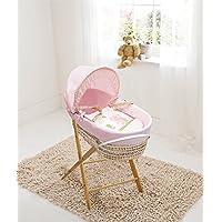 Pink Beary Nice Palm Moses Basket & Folding Stand