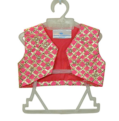 Little Emporio Sari Giacca Cotone Seta Designer della neonata Choli Dress