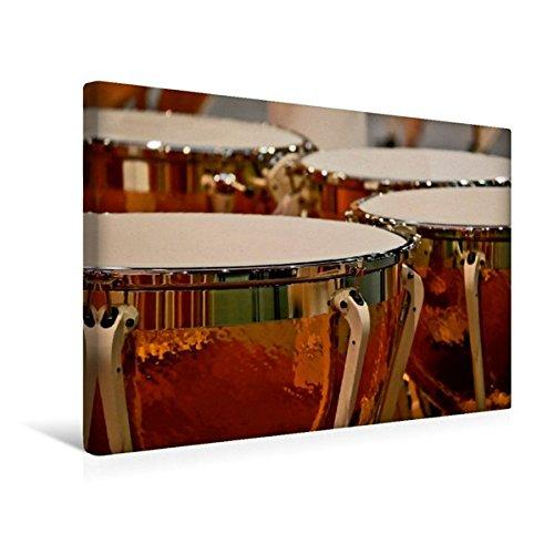 Calvendo Premium Textil-Leinwand 45 cm x 30 cm quer, Pauke | Wandbild, Bild auf Keilrahmen, Fertigbild auf echter Leinwand, Leinwanddruck Kunst Kunst