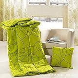 Couvre-oreillers au design unique Voiture pliable multi-usage avec coussins et coussins pour la pause-déjeuner est cintrée par les enfants avec coussin d'été (Couleur: Vert, Taille: 40x40)