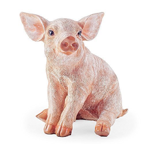 bailey-cochon-position-assise-ornement-de-jardin
