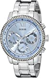 Guess Mujer u0559l4Classic Deportivo acero inoxidable reloj con esfera de color azul