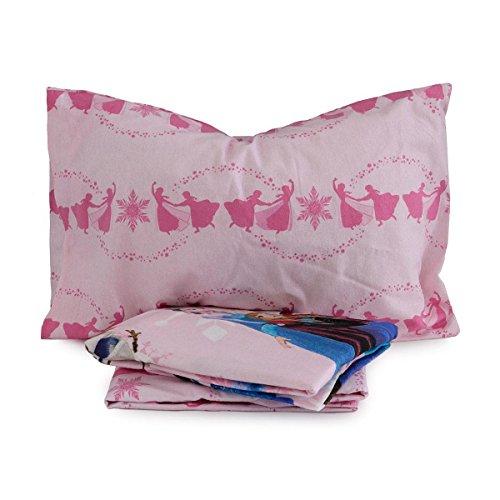 Completo lenzuola frozen disney in flanella per letto singolo una piazza q231