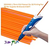 DEWANG 3D-Drucker Filament-40 Str?nge 1.75mm PLA Kunststoff f¨¹r 3D Drucker Zeichnung, Fluoreszenz Orange