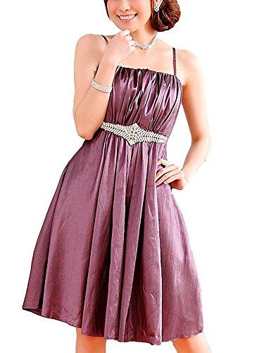 VIP Dress Cocktailkleid / Abiballkleid / Standesamtkleid kurz / aus Satin in Grün, Weiß, Schwarz und Lila Lila