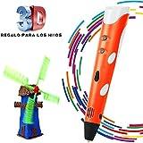 Penna Stampa 3D BANGBO Intelligent 3D Pen on Supporto perla Penna e filamenti per la creazione e la pittura Doodling, Arrancio