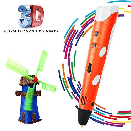 BANGBO 3D Stift Set für Kinder 3D Drucker Stift 3D Pen 3D Stifte mit+ PLA 3 Farben+PLA ABS-Modus Optionen für Bastler zu kritzeleien,Erwachsene, basteln, malen und 3D drücken