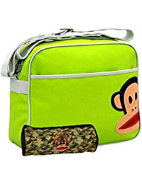 52c6936dde Paul Frank® Julius Monkey Lime Green Messenger School Bag   Army Camo  Pencil Case Set
