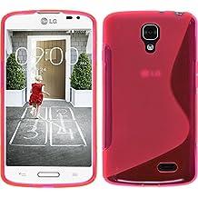 Funda de silicona para LG F70 - S-Style rosa caldo - Cover PhoneNatic Cubierta + protector de pantalla