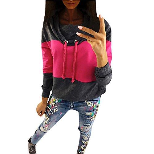 ❤Mosstars Halloween Hoodies Gestreifter Solides Bow Sweatshirt Kurzes Sweatshirt Langer Pullover mit Rundhalsausschnitt Kapuzenpullover Sweatshirt Pullover O Neck Hoodies