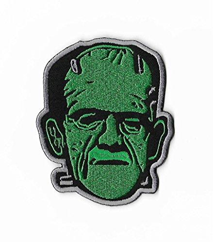 Frankenstein Patch (8,9cm) bestickt Eisen/Nähen auf Badge DIY -