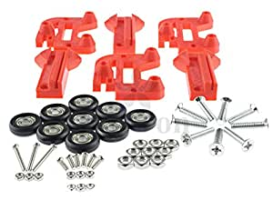 [Sintron] 3D Printer Drucker Kossel Mini Prime Line Roller Carriage Wheel + 696ZZ Bearing, Replace Linear Rail MGN12 for RepRap Rostock Delta Kossel Mini