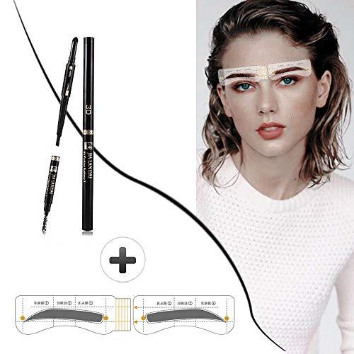 Outil de coiffage réutilisable pour pochoir de toilettage pour sourcils - pochoir à sourcils style naturel